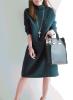 Megztinio tipo žalios spalvos megzta suknelė S-M (VIN185_G)