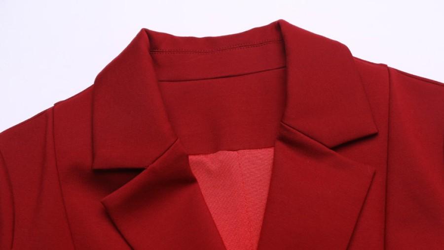 Juoda (raudona) suknelė su kaspinu ir kišenėmis S-XXL  (VIN1167_1)